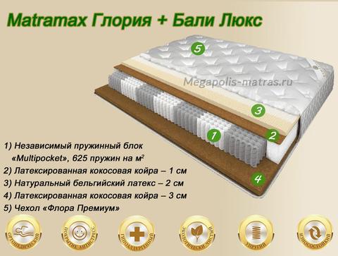 Матрас Latrix Глория + Бали Люкс купить недорого в Megapolis-matras.ru