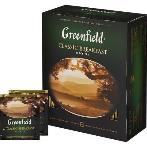 Чай Greenfield Classic Breakfast черный 100 пакетиков