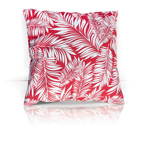 Подушка декоративная Пальма красный уличная коллекция