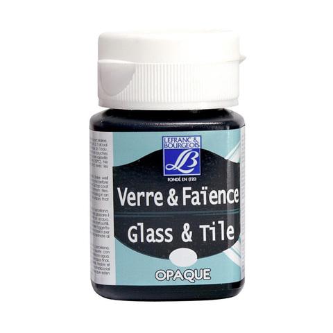 Краска по стеклу и керамике Lefranc&Bourgeois Glass&Tile 50 мл Непрозрачная 268, насыщенный черный