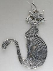 Мурлыка (кулон из серебра)
