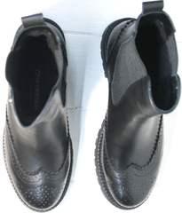 Ботинки кожаные женские осень Jina 7113 Leather Black