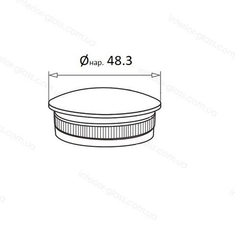 Заглушка для трубы D=48,3 мм ST-438