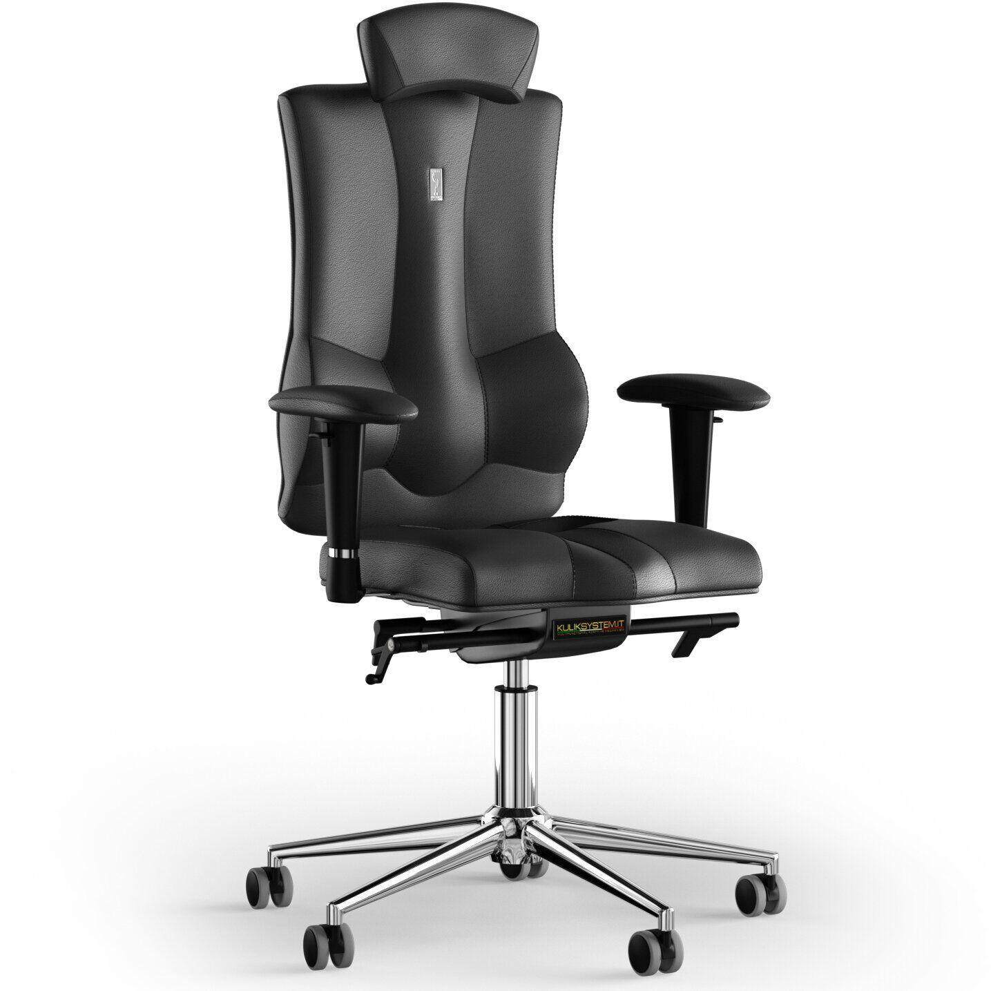 Кресло KULIK SYSTEM ELEGANCE Кожа с подголовником без строчки