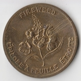K10551 Канада территория Юкон, Кипрея fireweed efilobe a feuille etroite D32 мм.