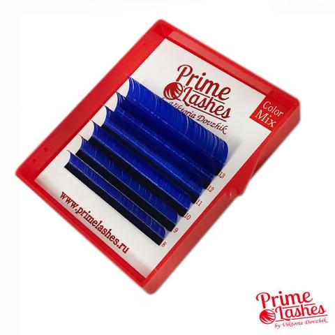Ресницы Prime Lashes синие, микс 6 линий