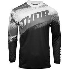 Джерси для мотокросса Thor Vapor черно-белое размер XL