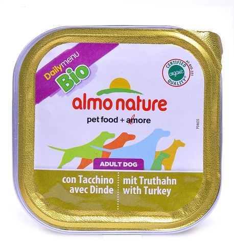 Консервы (ламистер) Almo Nature Daily Menu Bio - Pate Turkey