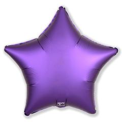 Шар звезда сатин фиолетовый