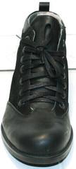 Модные зимние ботинки мужские кожа Luciano Bellini 6057-58K Black Leathers & Nubuk.