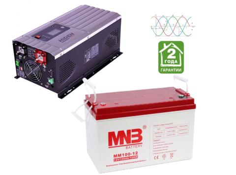 Комплект ИБП HPS30-1012-АКБ MM100 (12в, 1000Вт)
