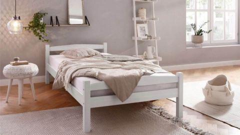 Кровать односпальная Гольф, 90x200 (белый воск)