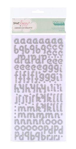 Набор чипборда алфавит c глиттером