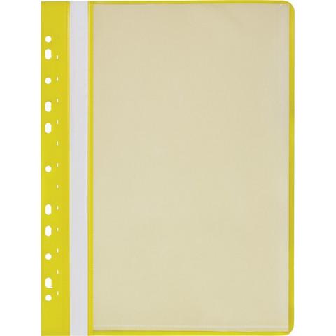 Папка файловая на 10 файлов Attache Economy A4 с перфорацией желтая