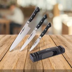 Набор из 3 ножей Samura PRO-S и точилки KSS-2000