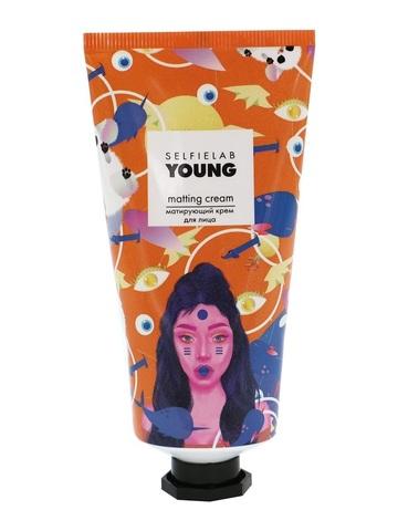 SelfieLab YOUNG Крем матирующий  для лица с маслом миндаля, экстрактами ромашки 50мл