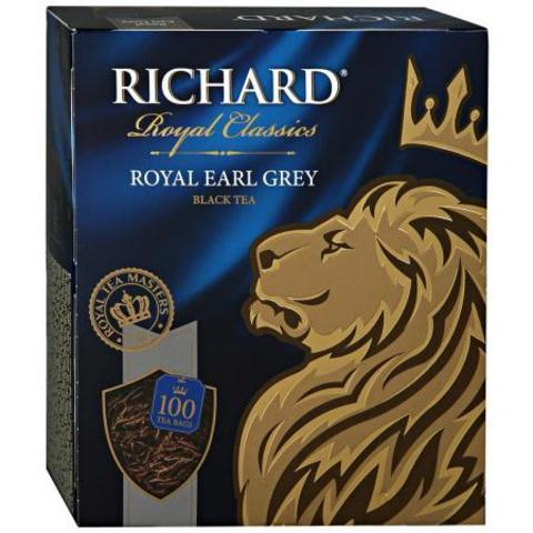 Чай черный «Richard» Royal Earl Grey 100 пакетиков