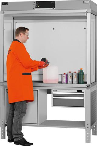 Вытяжной шкаф для работы с опасными веществами Basic Line 1500 мм