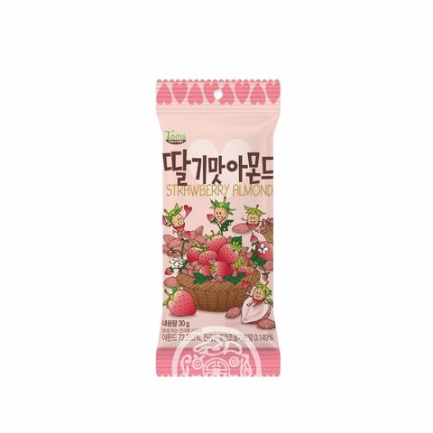 Миндаль обжаренный Toms Strawberry со вкусом клубники 30г Корея