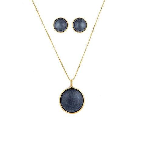 Комплект pearl blue aventurine S1565.23 B/G