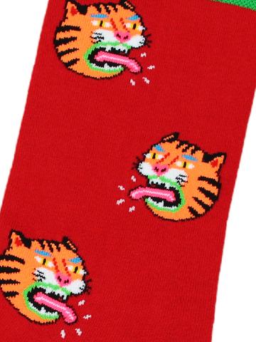 Носки Тигр красный