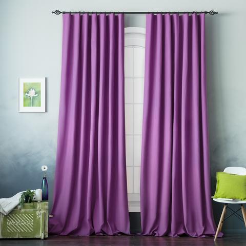 Комплект штор хлопок Эмми фиолетовый