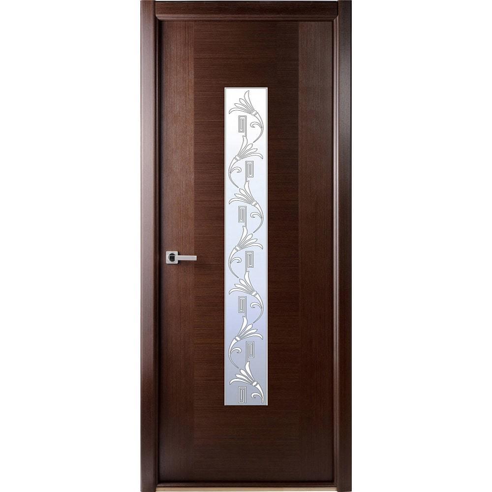 Межкомнатные двери Межкомнатная дверь шпон Belwooddoors Классика Люкс венге остеклённая klassika-wenge-po-dvertsov-min.jpg
