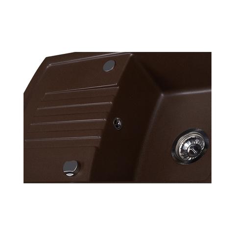 Мойка для кухни Kuppersberg ALBA 1B1D CHOCOLATE