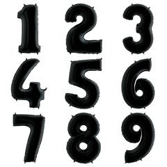 """Цифры 102 см """"Черные металлик"""""""
