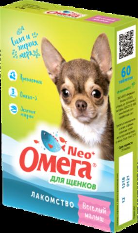 Омега Neo+ Веселый малыш для щенков 90 таб.