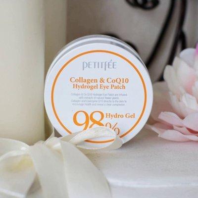 Гелевые патчи для век с коллагеном Petitfee Collagen & Co Q10 Hydrogel Eye Patch