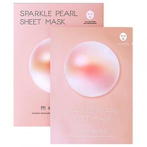 May Island Sparkle Pearl Sheet Mask выравнивающая тон спарклинг-маска для сияния лица с жемчугом