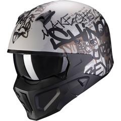 Мотошлем Scorpion EXO Covert-X Wall, серый матовый