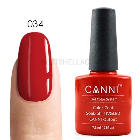 Canni Canni, Гель-лак № 034, 7,3 мл 034.jpg