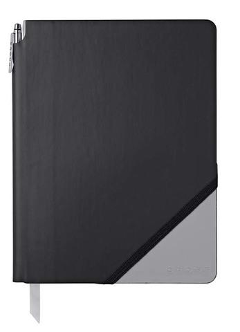 Записная книжка Cross Jot Zone , A4, 160 страниц в линейку, ручка в комплекте. Цвет - черно-сер