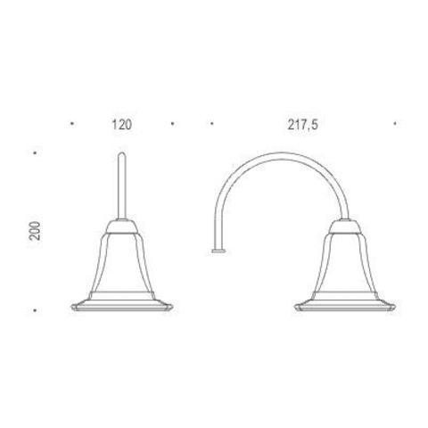 Светильник Colombo Portofino хром B1305 схема