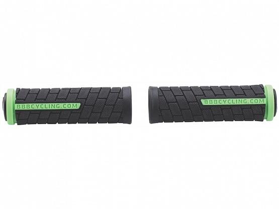 Грипсы BBB DualGrip 102mm черный/зеленый