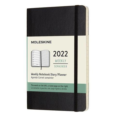 Еженедельник Moleskine (DSB12WN2) Classic Soft WKNT Pocket 90x140мм 144стр. мягкая обложка черный