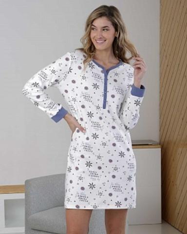 Ночная сорочка женская с длинными рукавами Massana ML_717201