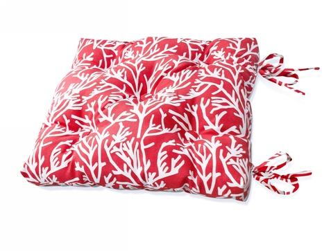 Подушка на стул Кораллы красный уличная коллекция
