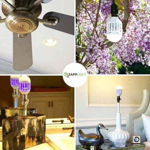 Светодиодная лампа ловушка, от комаров и насекомых Zapp Light