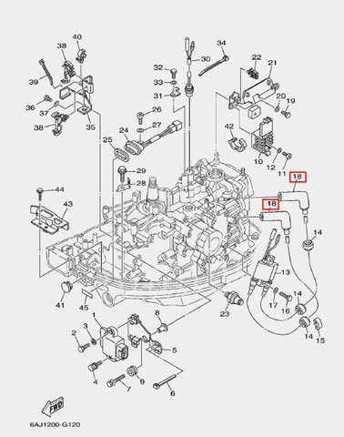 Колпачок свечной для лодочного мотора F20 Sea-PRO (12-18)