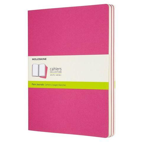 Блокнот Moleskine CAHIER JOURNAL CH023D17 XLarge 190х250мм обложка картон 120стр. нелинованный розовый неон (3шт)