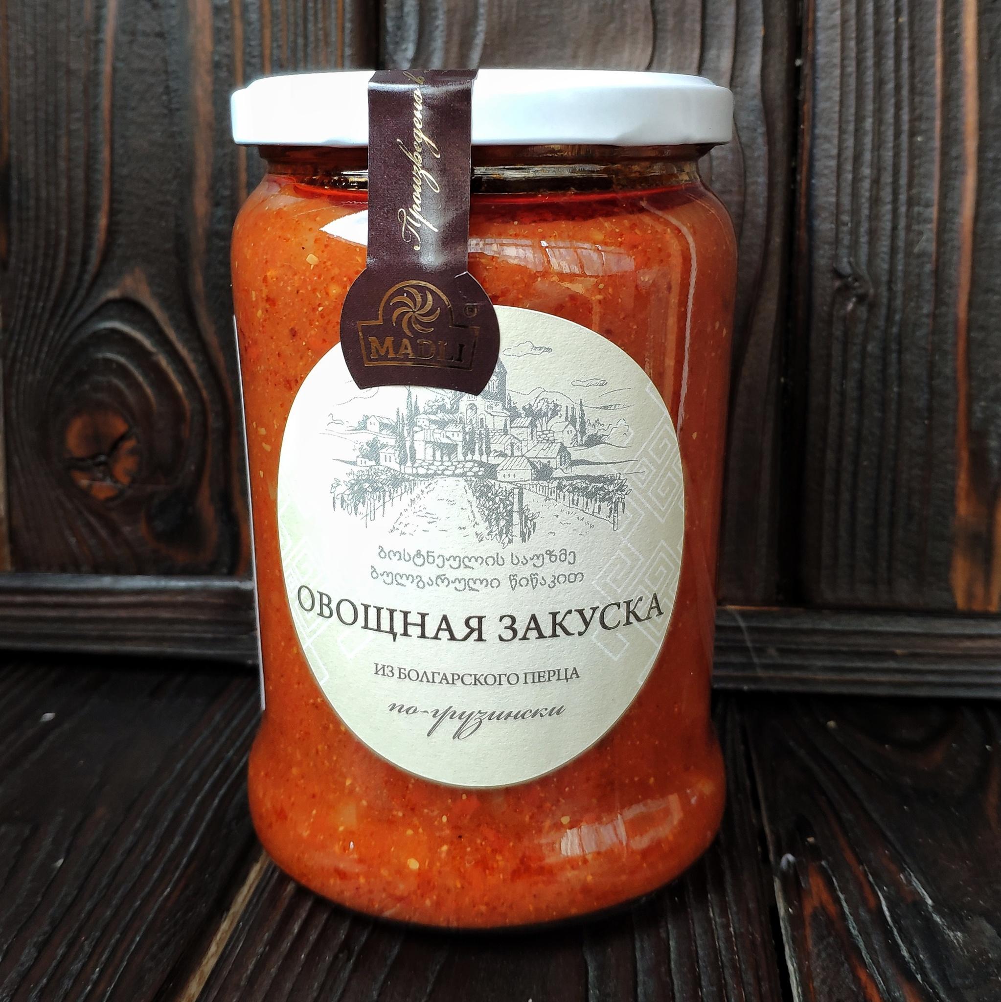 Фотография Овощная закуска из болгарского перца по-грузински MADLI, 580 гр купить в магазине Афлора