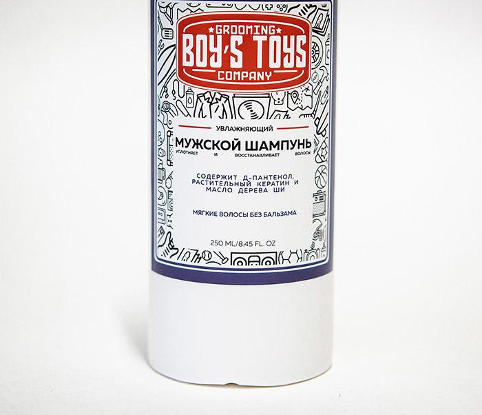 CARE182 Увлажняющий мужской шампунь Boy's Toys с пантенолом (250 мл) фото 02