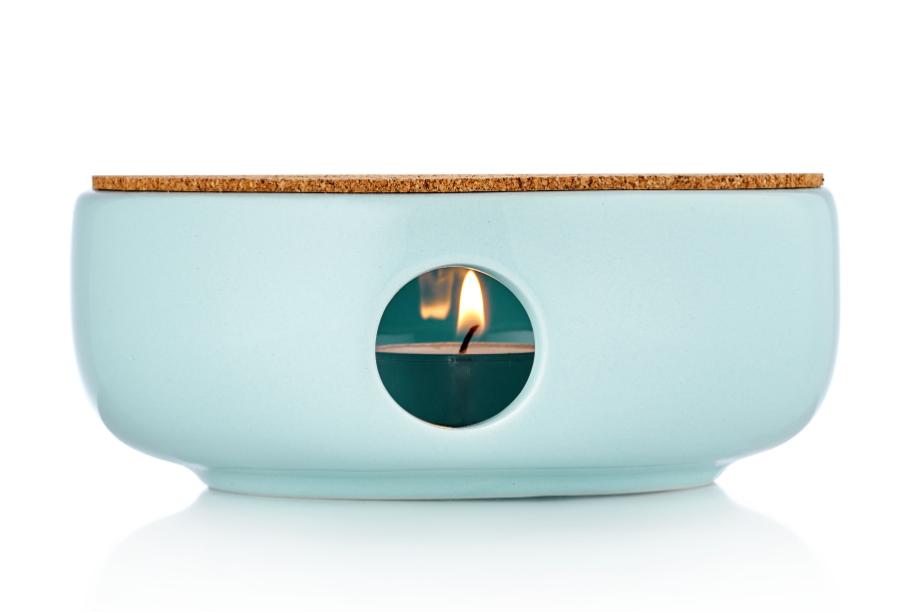 Керамические подставки Керамическая подставка для подогрева чайника с пробковым диском небесного цвета podstavka-ceramik-blue.PNG