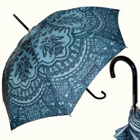 Французский зонтик кружево мятного цвета