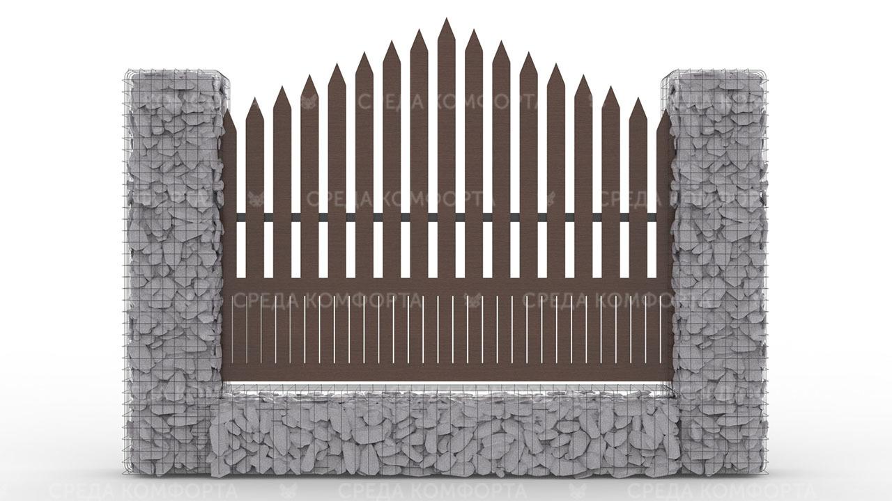 Деревянный забор ZBR0106