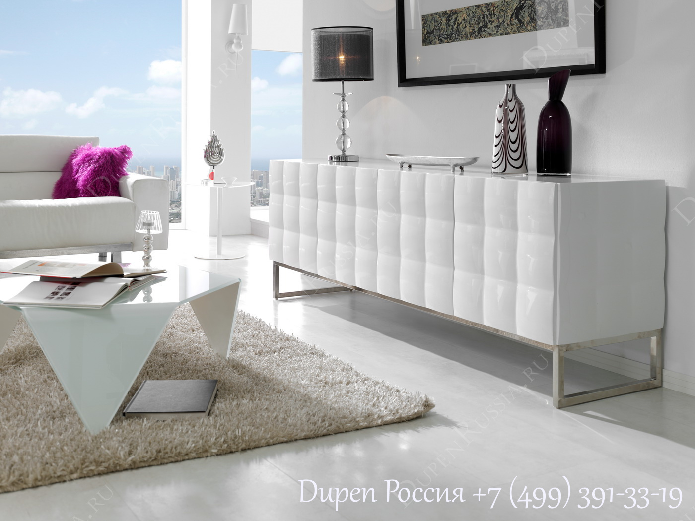 Буфет DUPEN W-751 Белый