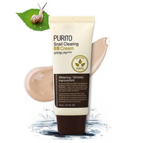 Купить PURITO Snail Clearing BB Cream SPF38/PA+++ №27 (30ml) ББ-крем с муцином улитки тон № 27